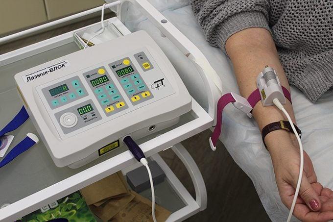 Лазерное излучение аппарата